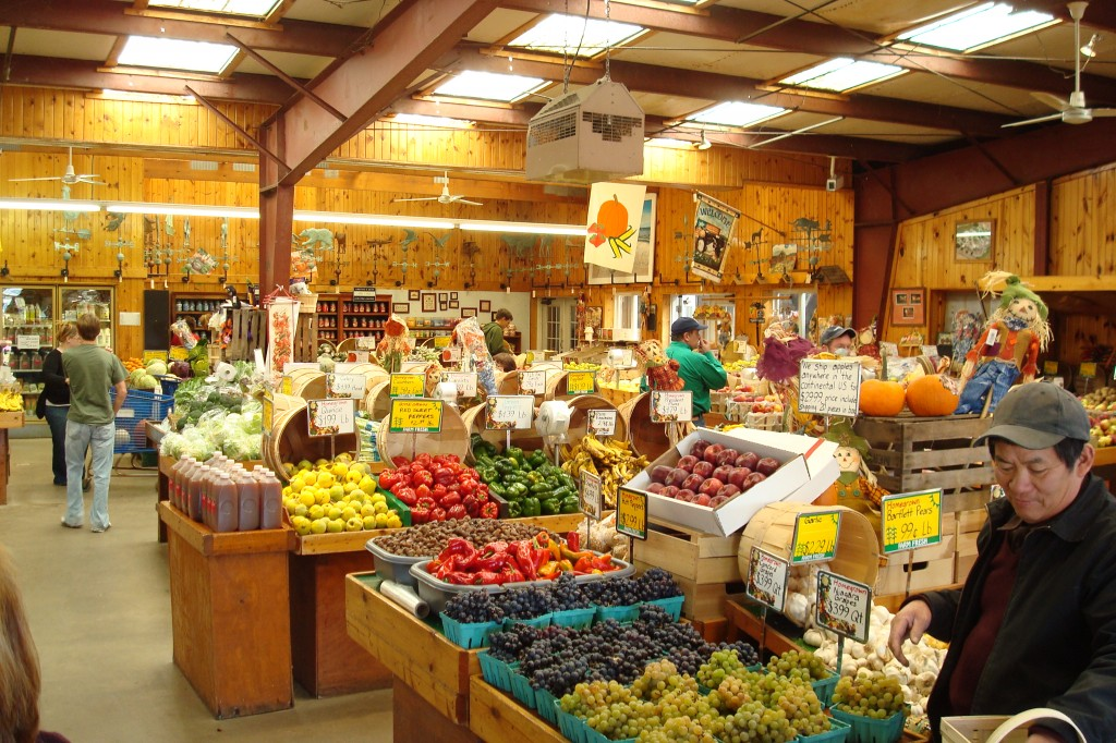 Farm store in fall