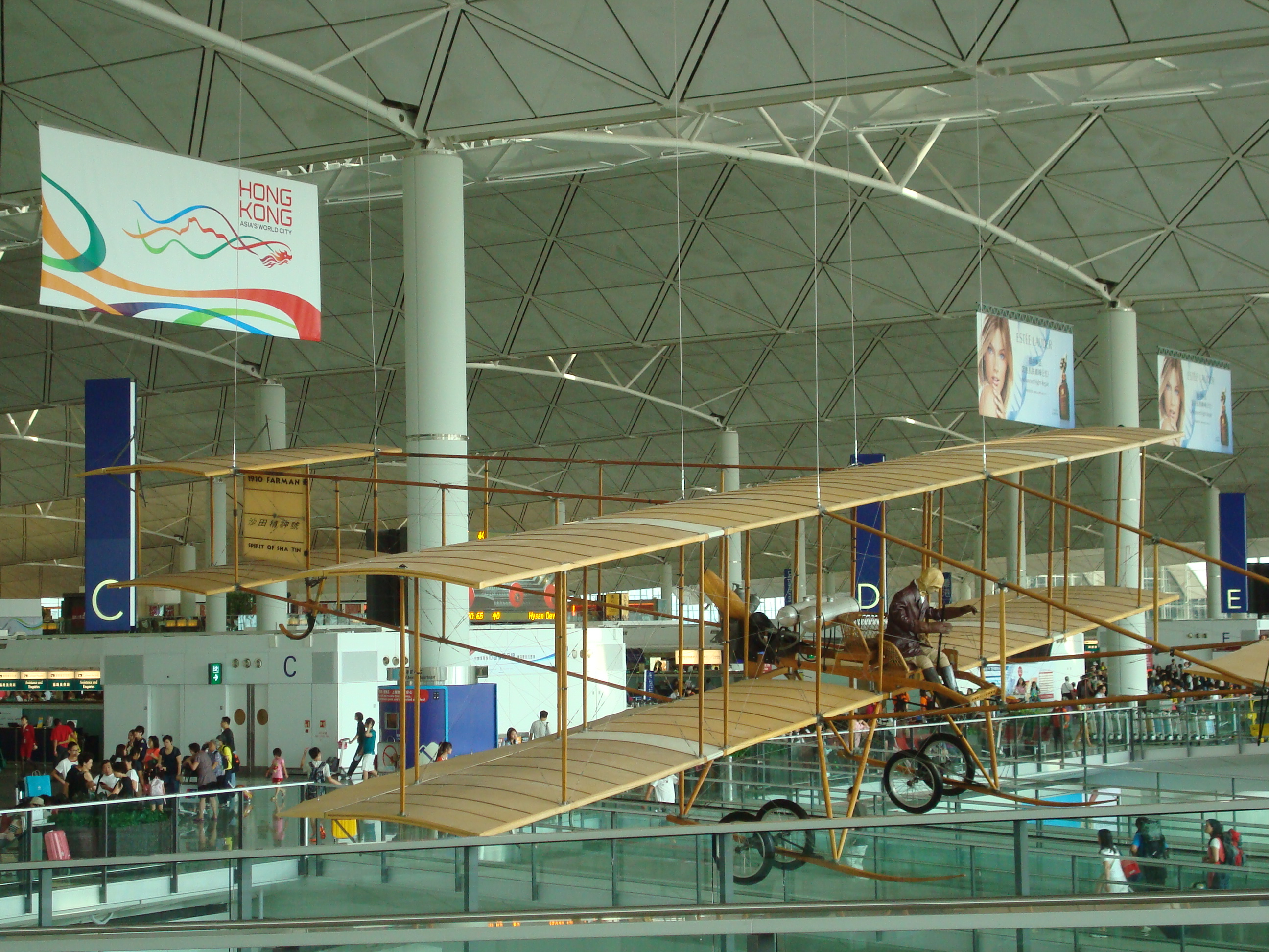 Wright Brothers Flyer in Hong Kong Airport