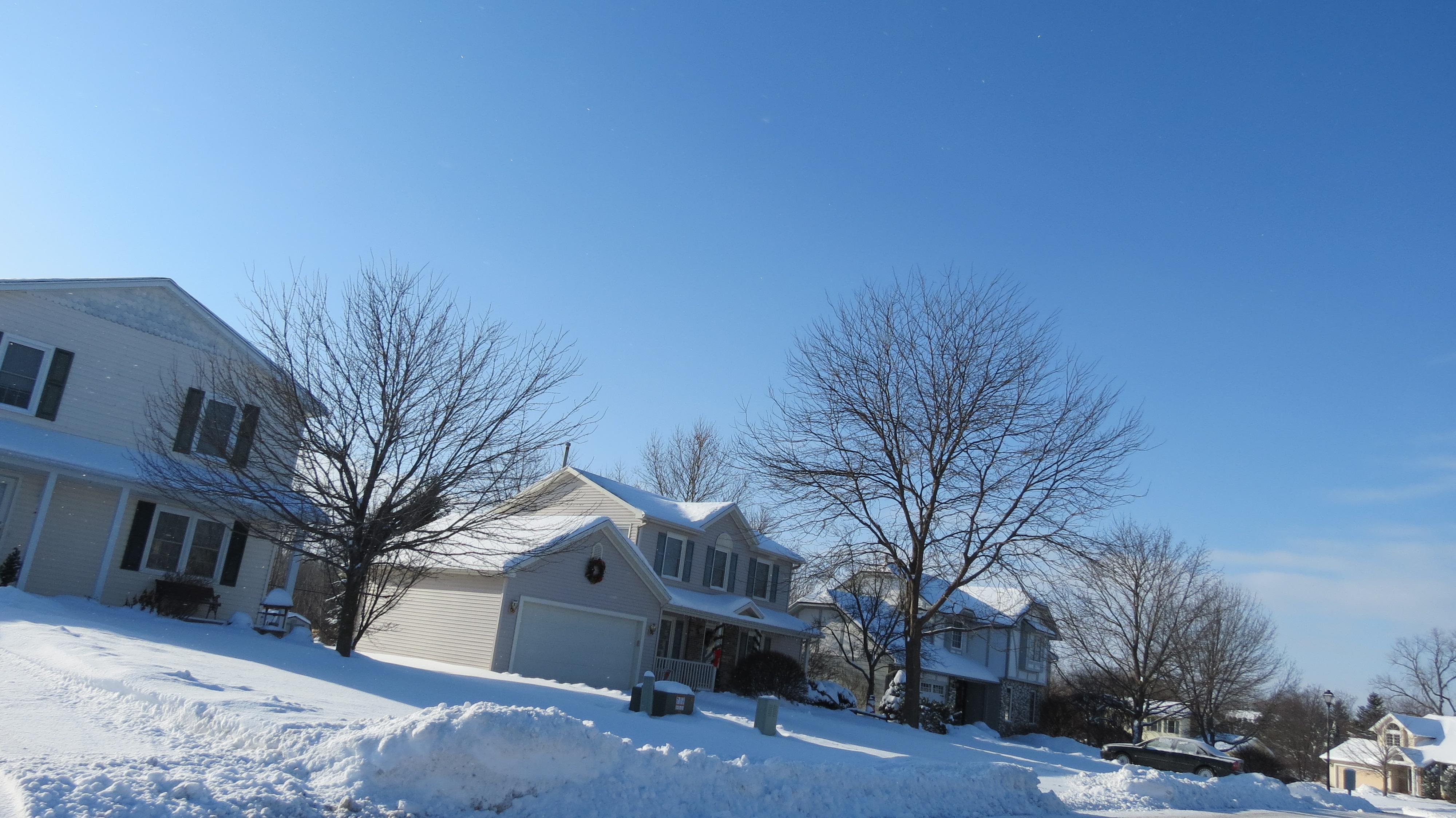 snow around Minckens Bend, Henrietta