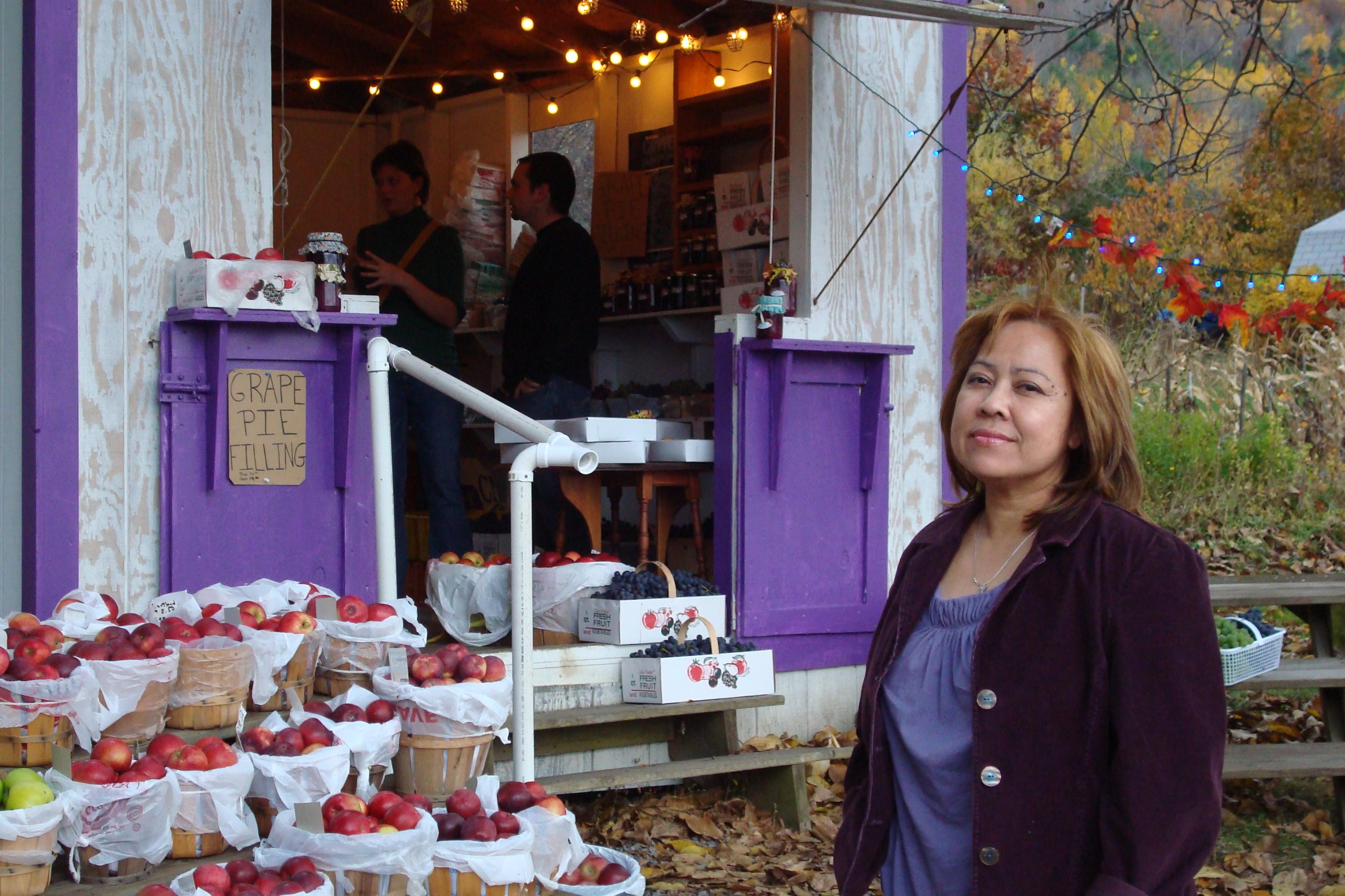 Fruit stand Naples, NY