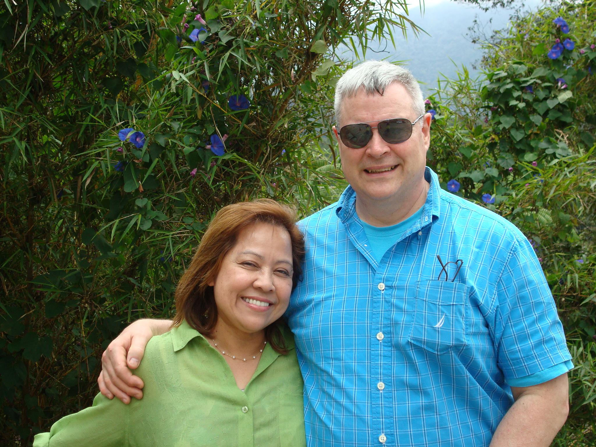 Bill and Norela in Kota Kinabalu, Malaysia