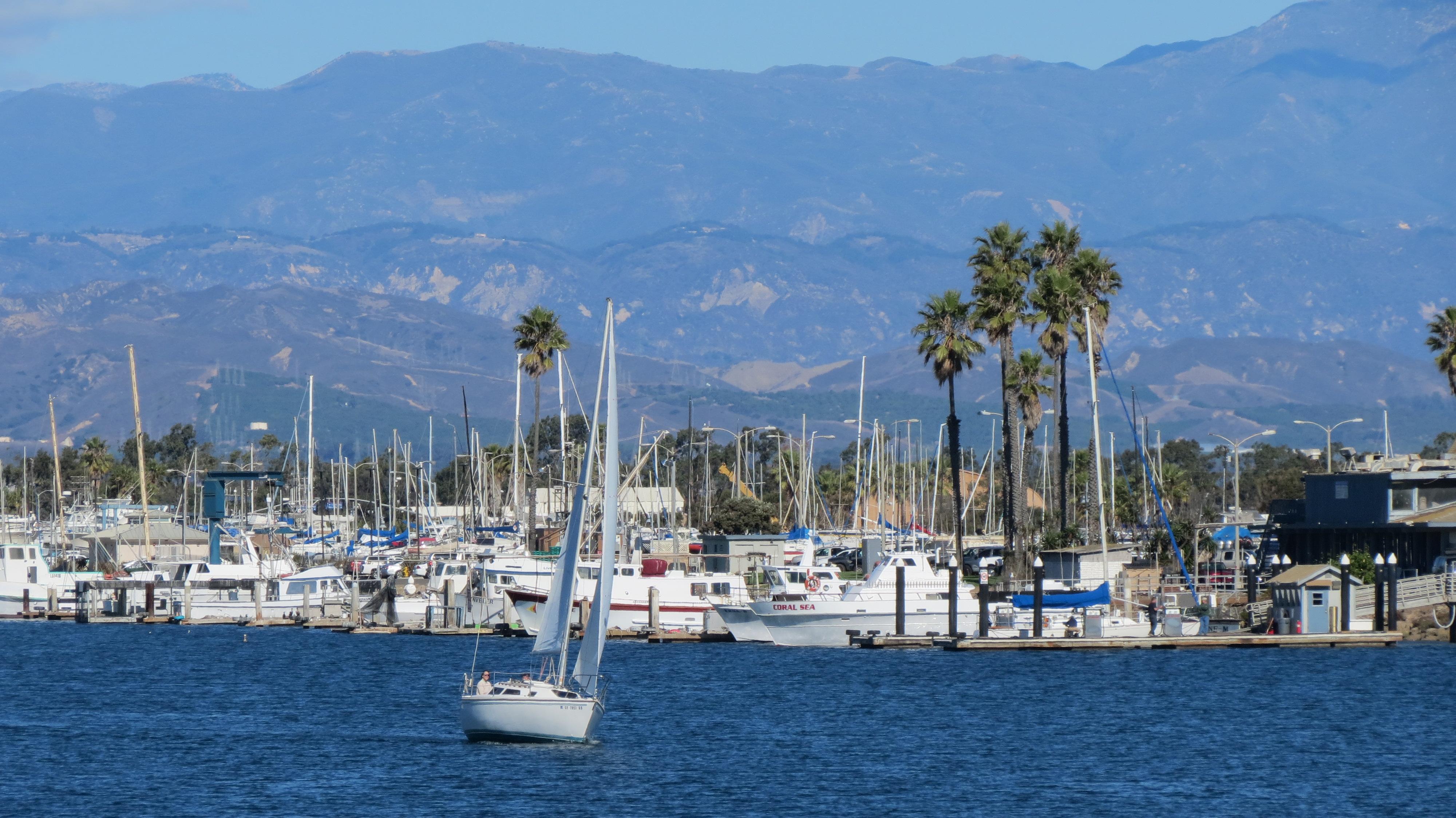 Sailing ship at Ventura Harbor