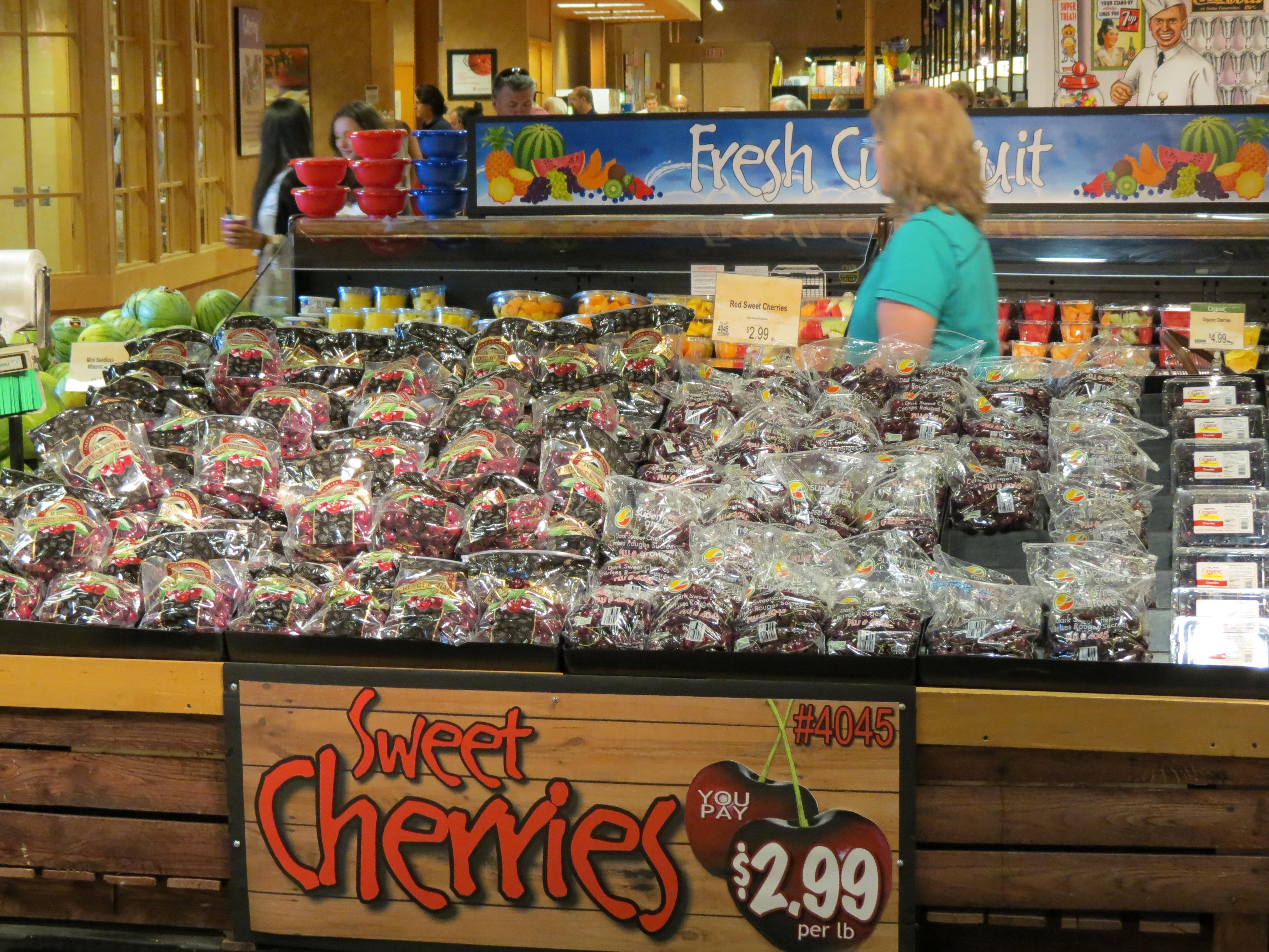 Cherries at Wegman